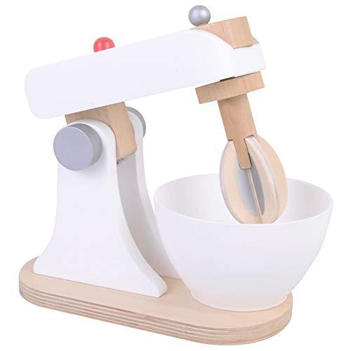 Spiel AG Mixer Küchenmaschine aus Holz mit Rührschüssel weiß