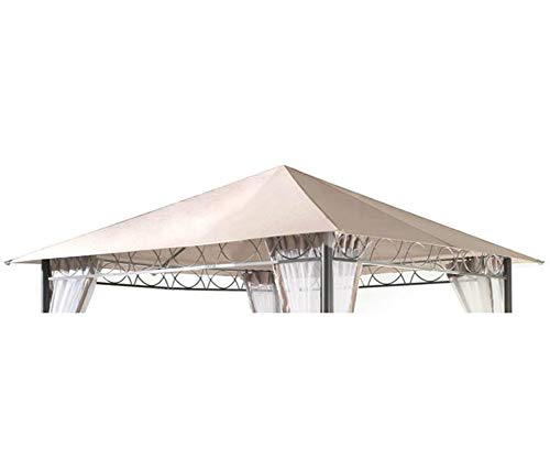 GRASEKAMP Qualität seit 1972 Ersatzdach 3x3m Stil Garten-Pavillon Sand Ersatzplane Bezug