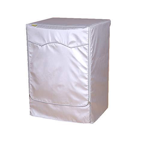Proumhang Tapa protectora en tela Oxford recubierta con plata Tapa de lavadora para lavadora frontal y secadora(60x85x58~65cm)