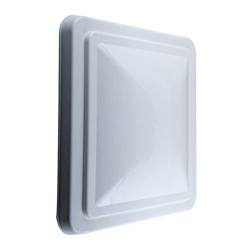 DECE 1 Paquete de Cubierta Universal de Repuesto para Tapa de ventilación de Techo de Caravana, 14 Pulgadas, Color Blanco para Remolque, Autocaravana