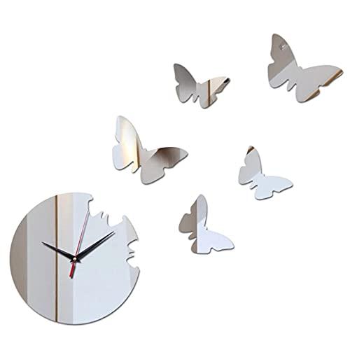 Reloj de Pared Caja Fuerte decoración del hogar DIY Cristal Relojes de Espejo Real Sala de Estar Reloj de Arte para niños