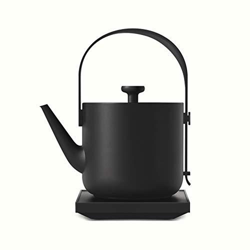 Wasserkocher 600ML, 1200W schneller Aufheiztopf Edelstahl Wasserkocher mit LED-Anzeige,Black