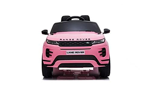 TOYSCAR electronic way to drive Auto Macchina Elettrica Range Rover Evoque 12V per Bambini Sedile in Pelle Porte apribili con Telecomando Full Accessori (Rosa)