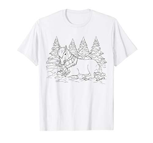 Kinder Geschenk Islandpferde Ausmalen Isländer Malvorlage T-Shirt