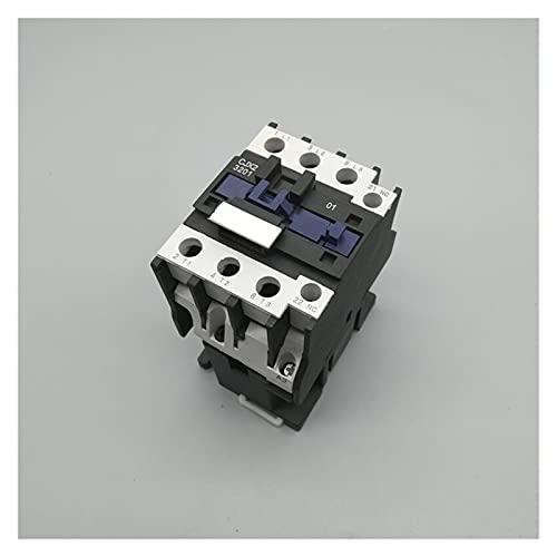 Jgzwlkj Contactor C.A. Contactor CJX2-3201 32A Cambia LC1 AC Voltaje de contactor 38 0V 220V 110V 48V 36V 24V 12V Usar con Interruptor de Flotador (Color : AC110V)