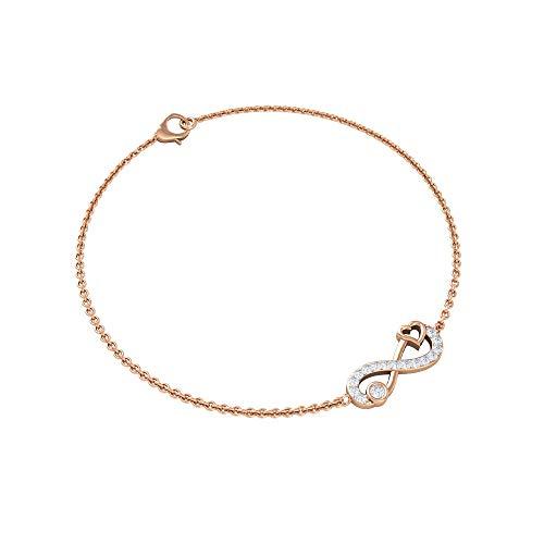 Pulsera de corazón infinito, pulsera de cadena Forever Love, pulsera de diamante HI-SI, pulsera de novia infinita, pulsera de promesa de aniversario, regalo para esposa