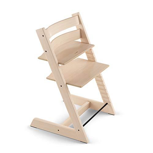 TRIPP TRAPP® Chaise Haute – Chaise haute avec dossier pour bébé ergonomique et évolutive pour toute la vie – Couleur: Naturel