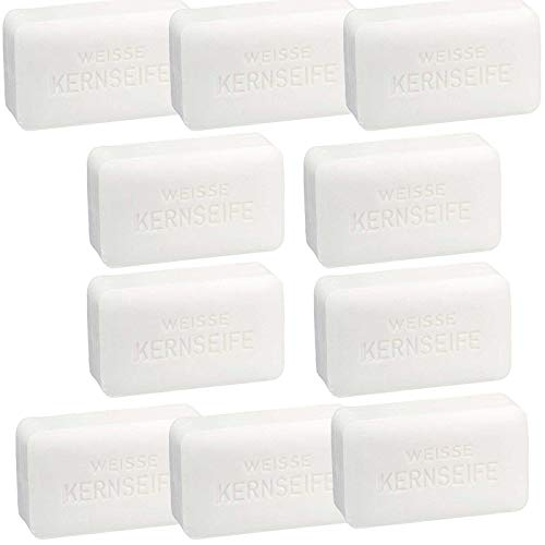 SIDCO Kernseife weiß 10 x150 g Seife Original Waschstück Haushaltsseife Handwaschseife