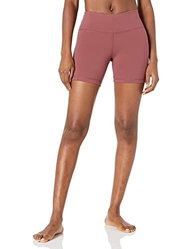 Amazon Essentials Women's Studio Mid-Length Yoga Short, Wild Ginger, X-Large
