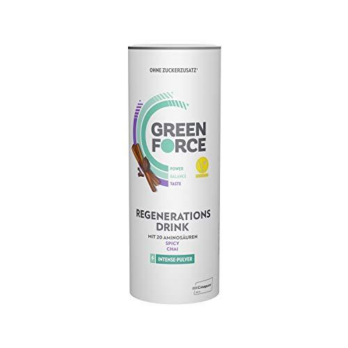GREENFORCE Intense Veganes Proteinpulver Chai aus Erbsen-Protein | leckerer Protein-Drink oder Shake zur Regeneration | veganer, glutenfreier Protein-Drink für Sport und Alltag | 500 g