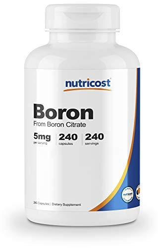 Nutricost Boron Capsules 5mg, 240 Veggie Capsules - Gluten Free, Non-GMO
