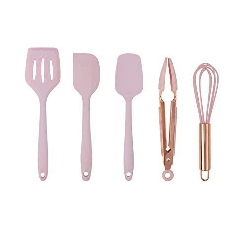 Juego de espátula de silicona de tamaño pequeño, 5 piezas, utensilios de...