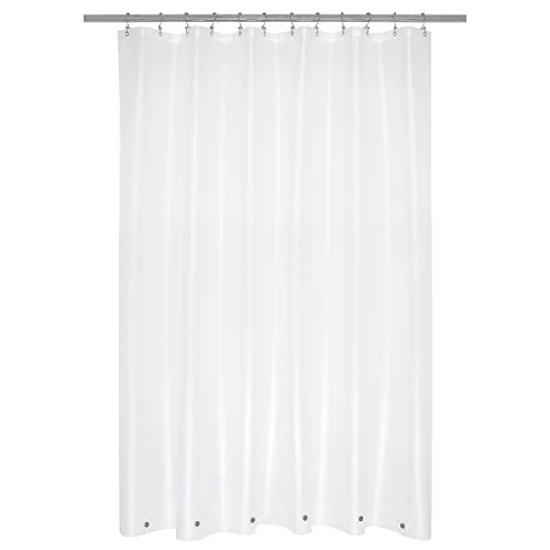 Shower Curtain Liner with 6 Magnets Frosted PEVA 8G Thick & Heavy Duty, Waterproof Standard Size 72 x 72 inch, Frost