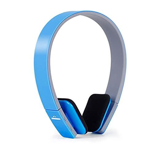 SKK Auriculares Gamer Auriculares inalámbricos Bluetooth Deportes con Cabezal de Trigo montado en el Cuello Montado Teléfono Móvil UniversalrComfort Reducción de Ruido Cascos Gaming (Color : Blue)