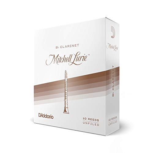 DAddario Woodwinds Mitchell Lurie Bb Clarinet Reeds, Strength 3.0, 10-pack - RML10BCL300