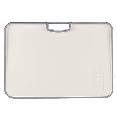 Chopping board Tabla de cortar resistente de plástico grueso multifuncional a gran escala (color: beige, tamaño: 40 x 28 x 2,5 cm)