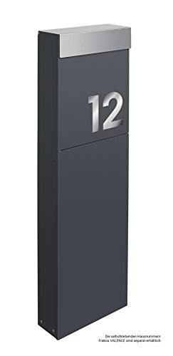 Frabox® Design Standbriefkasten NAMUR anthrazitgrau RAL 7016 / Edelstahl – Made in Germany! - 6