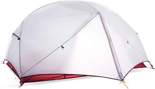 LIjiMY Tienda, Outtoortent Ultralight Doble Capa Impermeable Camping Montañismo Ocio Tienda de Ocio, Camping Blanco,
