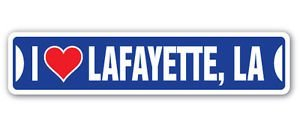 Lancy's Artwork I Love Lafayette, Louisiana Custom Street Signs - Sticker Graphic - Auto, Wall, Laptop, Cell, Truck Sticker for Windows, Cars, Trucks, Tool Boxes, laptops