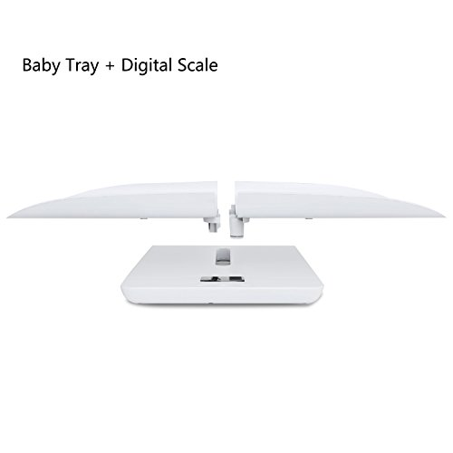 Multi-Function Digital Baby Scale Infant Baby Toddler Weight Accurately, 220 Pound (lbs) Capacity with Precision ± 10g, Kg/oz/lb, 60cm (White) Baby Scale