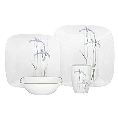 Corelle Square Shadow Iris Dinnerware Set (16-Piece, Service for 4)
