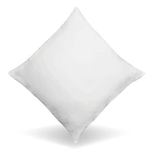 LILENO HOME Juego de 4 cojines de plumas de 45 x 45 cm, 45 x 45 cm, de plumas como almohada, almohada para dormir y almohada perfecta para alérgicos y niños – relleno de muelles de 450 g cada uno