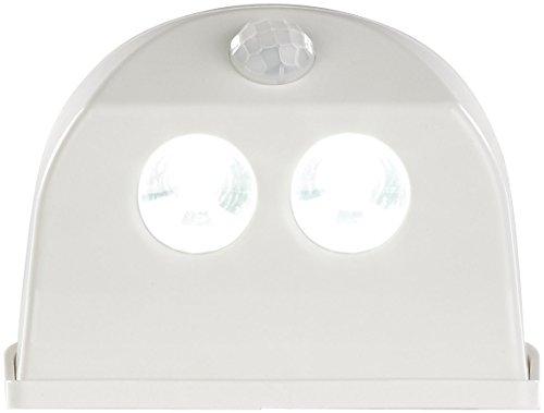 Luminea Schranckleuchte: Batterie-LED-Türleuchte, Bewegungs-/Lichtsensor, 0,4 W, 50 lm, weiß (Türbeleuchtung)