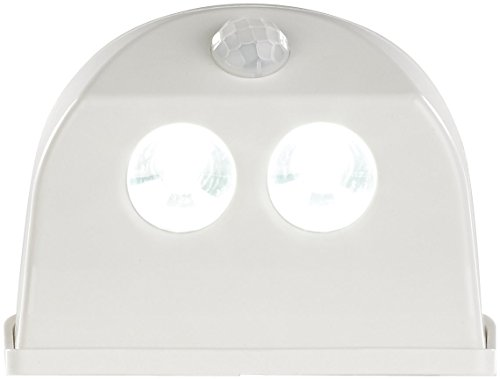 Luminea LED Lampe Bewegung: Batterie-LED-Türleuchte, Bewegungs-/Lichtsensor, 0,4 W, 50 lm, weiß (LED Türbeleuchtung)