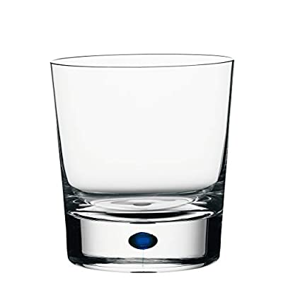 Orrefors Intermezzo Double Old Fashioned Glass, Clear/Blue