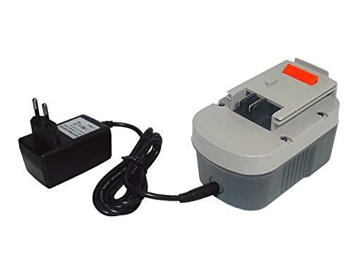 Li-ion de 14,40 V 1500 mAh Tipo de batería 499936-34, 499936-35, A14, A144, A144EX, A14F, B-8316, BD1444L, BPT1048, HPB14, de repuesto para BLACK and DECKER BDGL, CD, CDC, CP, EPC, HP, departamento, KC, PS, RD, SX Series (incl. Cargador)