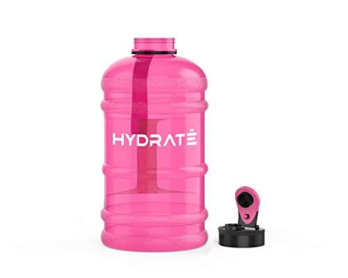 HYDRATE XL Jug 2.2 Litre Water Bottle - BPA Free, Flip Cap, Ideal for Gym - Colour Options (Pink)