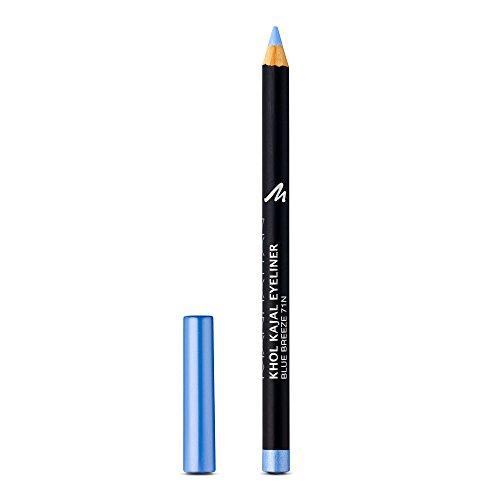 Manhattan Khol Kajal Eyeliner, Hellblauer Kohle-Kajalstift für strahlend große Augen und eine Idealen umrandete Augenkontur, Farbe Blue Breeze 71N, 1 x 1,3g
