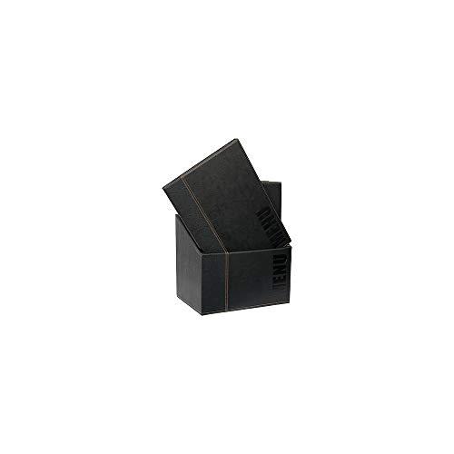 Securit Menu- Box con 20 menu in formato A4 nero Trendy con 1 inserto doppio