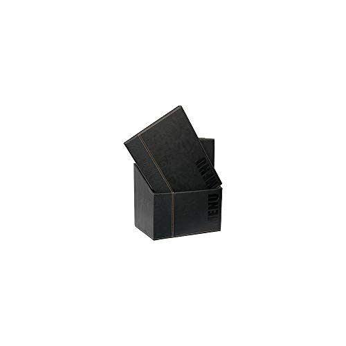 Securit Trendy Range Menu Box with 20 A4 Menu Cards with1 Double Insert, Black