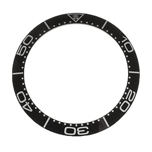 LJZZH Reloj Bisel Caso del Reloj 38 mm Negro Azul cerámico Bezel Inserto Mens Reloj Reemplazar Accesorios Reloj Cara Nueva para fácil de Instalar y Duradero (Color : Black)