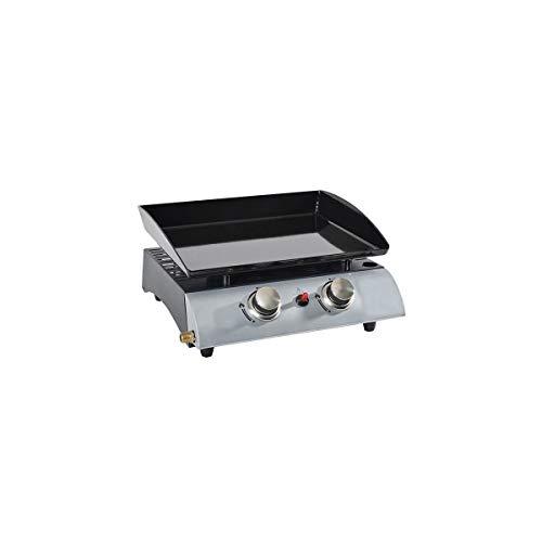 Kitchen chef - 1002 - Plancha gaz 5000w plaque acier email 45x35cm