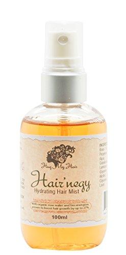 Cheveux 'negy hydratant Cheveux Mist par Hug My Cheveux, Formule Scientifiquement prouvé Hydrate Cheveux et nourrir le cuir chevelu – Nutritive Contient Plus de 99% d'ingrédients naturels actifs – Idéal pour capillaire hijab, meilleure Hair-growth. jusqu'à 27% plus de cheveux dans les 8-weeks.