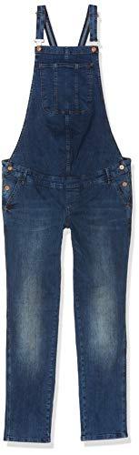 Noppies Damen Jeans Salopette AVA Umstandsjeans, Blau (Dark Stone Wash C296), W32 (Herstellergröße: 32)