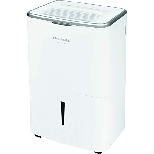 Frigidaire Energy Star 50 Pints-Per-Day Wi-Fi Controls, Large Dehumidifier for Home, Basement, and More, FGAC5044W1, White (Renewed)