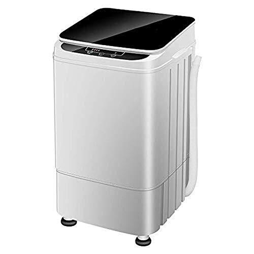 QUZHCP Tragbare Waschmaschine, Tragbare Kompaktbauweise Multifunktionswäsche Waschmaschine/Spinner, 4.5kg Top Load Mini Waschmaschine, Intelligent Control Panel, Schwarz