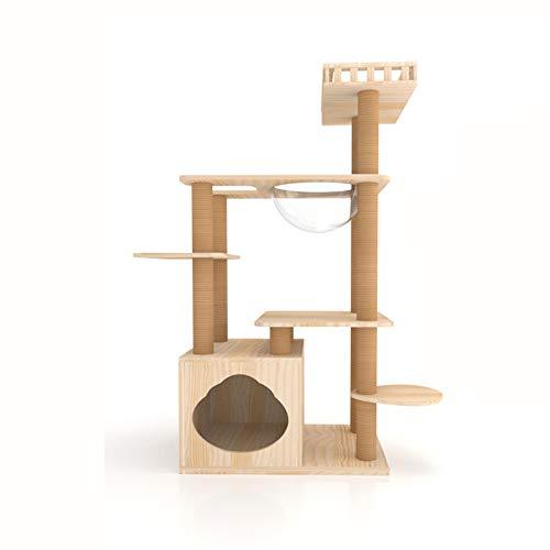 GBY Katzenbaum Klettergerüst Klettergerüst Kletterbaum Katzennest Katzennest integrierte Villa, geeignet für den Innenbereich, 117 x 60 x 40 cm