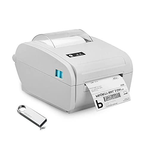 TEROW T9210 Stampante per etichette USB 4X6 180mm / s Stampante termica diretta per ricevute Stampante per codici a barre con larghezza di stampa 4,3 '' compatibile con Windows/MAC