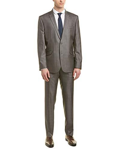 MAGE MALE Men's 3 Pieces Suit Elegant Solid One Button Slim Fit Single Breasted Party Blazer Vest Pants Set Dark Blue