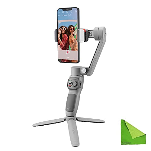 Zhiyun SMOOTH-Q3 Gimbal Stabilizer for Smartphone Android Cell Phone iPhone zhi yun q 3-Axis Handheld Gimble Stick w/ Tripod Stand LED Fill Light for Tiktok YouTube Vlog Video Kit Face/Object Tracking