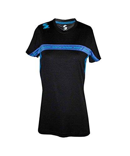 Softee – T-Shirt Padel Club Femme Couleur Noir/Royal Taille XS