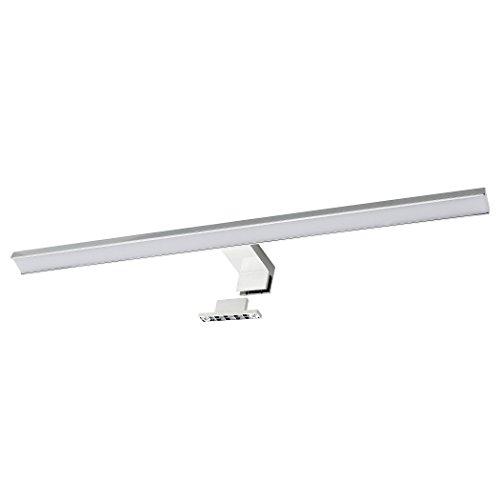 SEBSON® LED Spiegelleuchte 60cm, Bad IP44, Aufbauleuchte + Klemmleuchte, Spiegelschrank-Leuchte, neutralweiß 4000K, 600x108x40mm, 10W, 700lm
