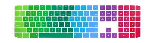 Silicone Skin Keyboard Cover for Apple Magic Keyboard 2019 New Magic Keyboard with Numeric Keypad MQ052LL/A A1843 Soft-Rainbow-