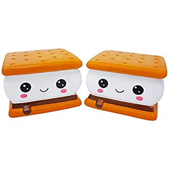 Serenilite Slow Rising Scented Squishy Toy - Cute and Cuddly Toys for Squeezing & Stress Relief - 2 Pieces  2-Pack Smore