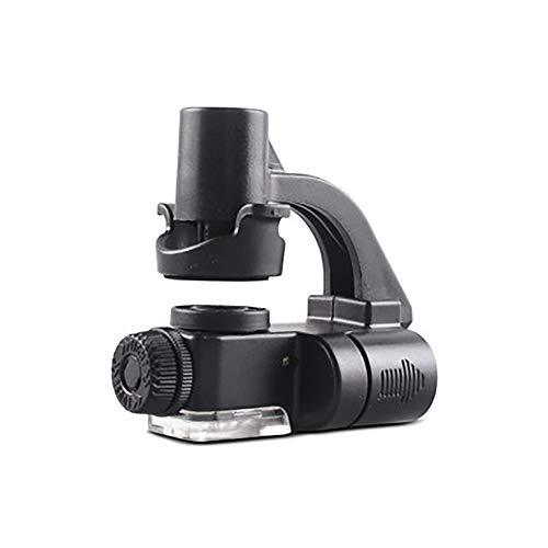 Lupa - Mini teléfono celular de gran aumento Lupa con luz LED Identificación de la joyería del ojo de la paloma HD Lupa Microscopio de mano Portátil Marca de identificación falsificada Jade Texto anti