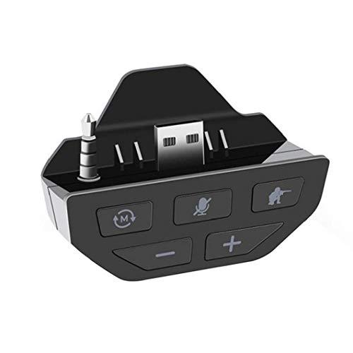 shentaotao Sound Enhancer Gamepad Stereo-Soundkarte Kopfhörer Audio Adapter-Controller-Zubehör kompatibel mit Xbox- Schwarz
